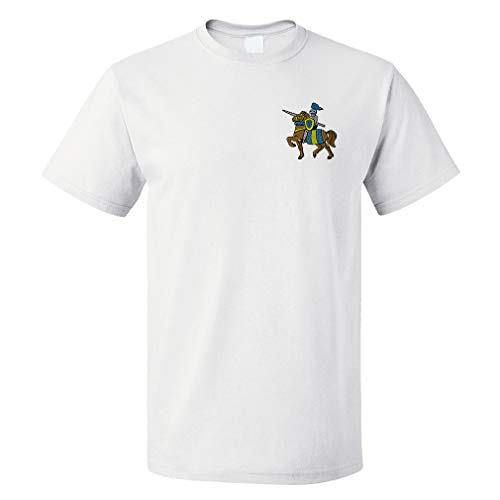 Funny Graphic T Shirts for Men Knight on The Horse Cotton Top White 2X Large]()