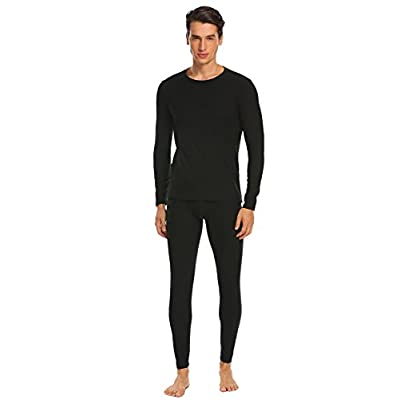 a15a668c0598 Ekouaer Mens Long Johns Cotton Thermal Underwear Fleece Lined Base Layer  Winter Set