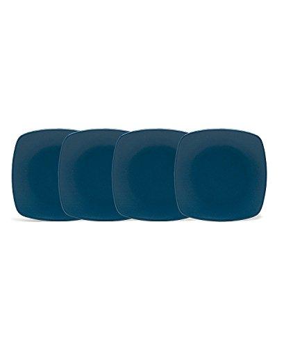 Noritake Colorwave Blue Mini Quad Plates, 6-1/2-inch, Set of 4