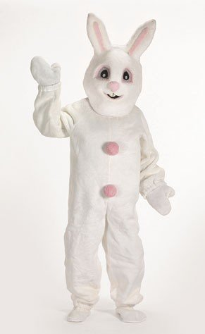 White Bunny Suit with Hood