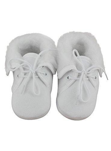 Hausschuhe zur Taufe weiß gefüllt für Baby Jungen–Produkt Gespeichert und verschickt Schnell seit Frankreich Weiß