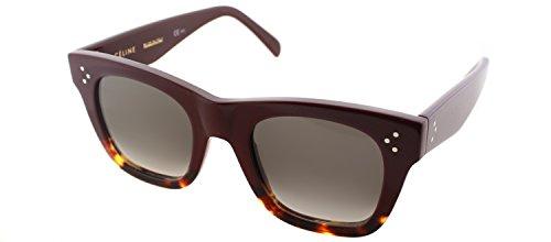 Celine 41089S AEV Burgundy / Havana Catherine Small Square Sunglasses Lens - Sunglasses Celine Buy