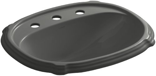 (KOHLER K-2189-8-58 Portrait Self-Rimming Bathroom Sink with 8