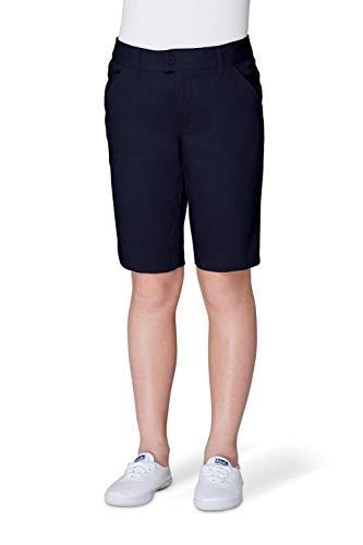 French Toast Big Girls' Twill Bermuda Short, Navy, (Girls Navy School Uniform Shorts)