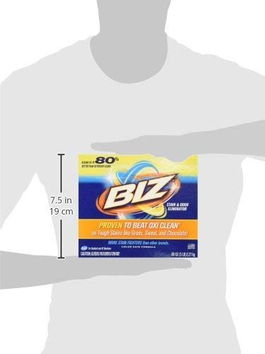 Biz Laundry Detergent Powder Booster, Stain & Odor Removal - 80 Ounces (2-Pack) by BIZ (Image #8)