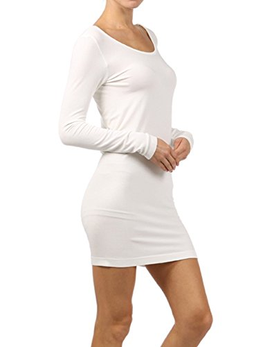 M. Rena Long Sleeve Seamless Dress (One Size, White) for sale  Delivered anywhere in USA
