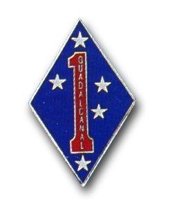 US Marine Corps 1st Division Guadalcanal Lapel ()