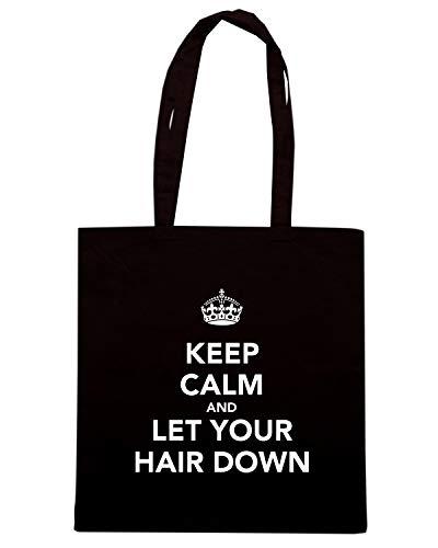 HAIR Borsa CALM LET DOWN AND Nera Shirt Shopper YOUR KEEP TKC0977 Speed qAg4fSvW