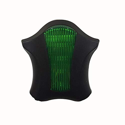 Glumes Bike Rear Light Ultra Bright Powerful Safety Light   5 LED+ 2 Laser Flashing Bicycle Taillight 9 Light Mode Options Waterproof for all Bikes/Helmets (Green)