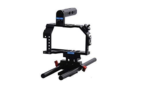 Black Magic Pocket Cinema Camera cage Compact+Top Handle+Rod Adapter 15 mm ()