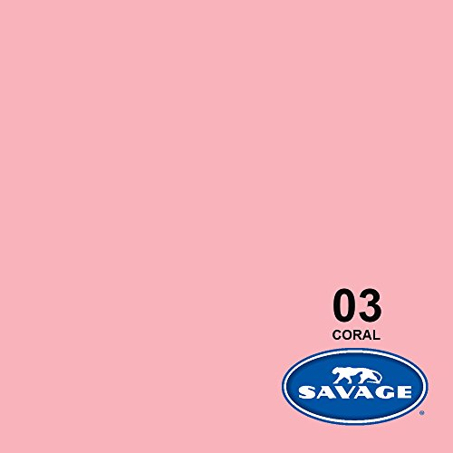 107'' x 12yds Background Paper (#03 Coral) by Savage (Image #1)