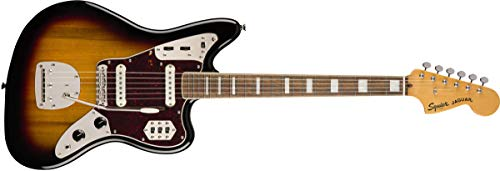 - Squier by Fender Classic Vibe 70's Jaguar Electric Guitar - Laurel - 3-Color Sunburst