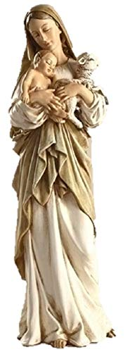 - 12 Inch Madonna and Child W/lamb Figurine By Josephs Studio 40735