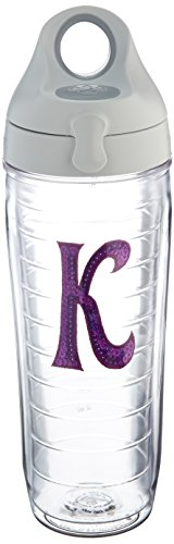 Tervis Water Bottle with Letter-K in Purple - Tumbler With Letter K