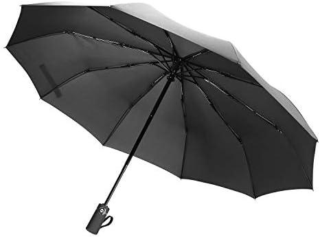 [해외]접는 우산 Dinines 자동 개폐 원터치 남성 신사 간이 우산 초 발 수 견고한 10 개 뼈 큰 빅 사이즈 장마철 대책 비가 겸용 내 바람 수납 파우치 첨부 휴대 편리한 비즈니스 출장 여행 출퇴근 용 ... / Folding umbrella Dinines Auto Opening And Cl...