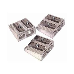 3 PACK: KUM 1040501 2-hole Pencil Sharpener Magnesium Alloy