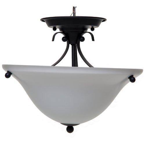 (Boston Harbor F3-2SF-3L 7208713 Dimmable Ceiling Light Fixture, (2) 60/13 W Medium A19/Cfl Lamp, Matte )
