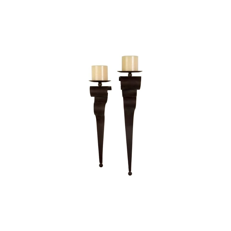 Wrought Iron Wall Sconces (Set of 2)