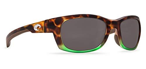 Lens Plastic Gray (Costa Del Mar Trevally Sunglasses, Matte Tortuga Fade/Gray 580 Plastic Lens)