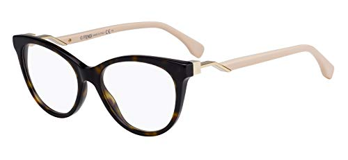 Fendi Cube Ff 0201 - Óculos De Grau 0T4 17 Marrom Mesclado E