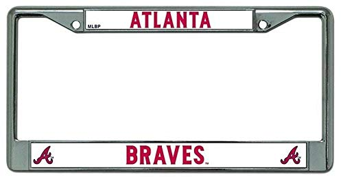 Billion_Store? Atlanta Braves License Plate Frame Chrome Best Accessories for Tuning
