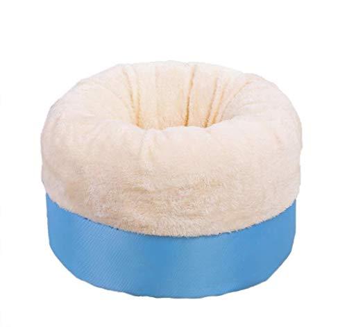 Jjek Pet Bed Cat and Puppy Upholstered Oxford Cloth Bottom Anti-Velvet Lining Pet (Small, Diameter 65 cm) (Color : Blue, Size : M)