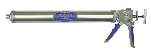 Newborn 632-GTS Bulk/Sausage Deluxe Smooth Hex Rod  Caulking Gun with Comfort Grip, 32 oz. Bulk/10-30 oz. Sausage Packs, 14:1/7:1 Thrust Ratio