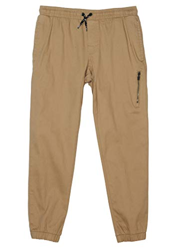 TONY HAWK Kids Boys Cotton Stretch Twill Woven Jogger Pants with Drawstring and Pockets School Clothes Antelope 8