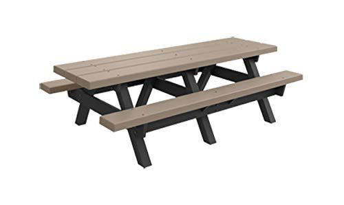 Kirby Built Products A-Frame BarcoBoard Plastic Picnic Tables (8 Foot, Desert Tan)