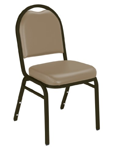Steel Back Stacking Chairs (NPS 9201-M Vinyl-upholstered Dome Back Stack Chair with Steel Mocha Frame, 300-lb Weight Capacity, 18