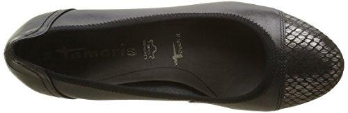 Tamaris 22301, Zapatos de Tacón para Mujer Negro (BLK/PEWT.STR. 045)