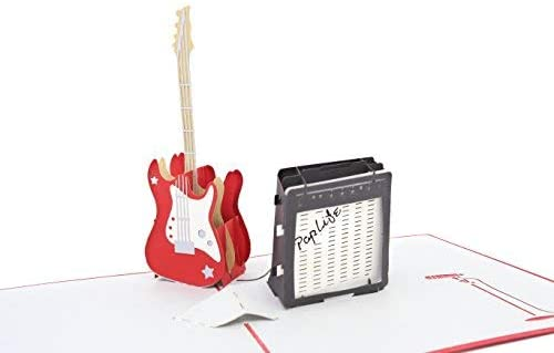 PopLife Guitar 3D Father's Day Pop Up Card