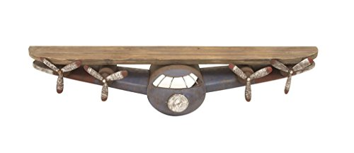 Deco-79-53288-Metal-Wood-Wall-Shelf
