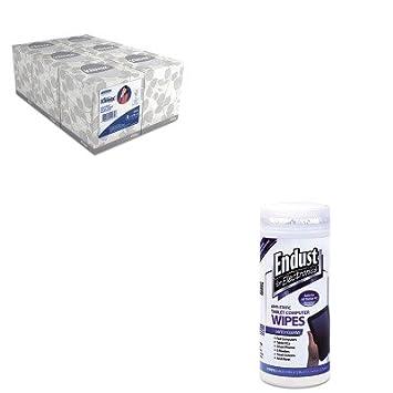 kitend12596kim21271 - Value Kit - Endust Tablet y portátil de limpieza toallitas (end12596) y Kimberly Clark KLEENEX tejido Facial (kim21271), color blanco: ...