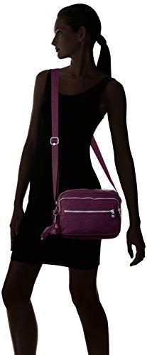 Kipling Deena, Bolso Bandolera para Mujer, Morado (Plum Purple), 12.5x25.5x19 cm (B x H x T)