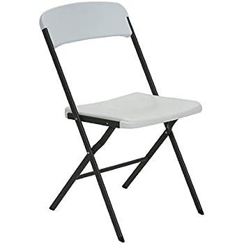 Amazon Com Lifetime 80155 Loop Leg Folding Chair White