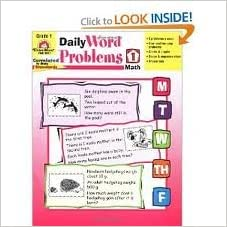 Book Daily Word Problems Grade 1 Math byNorris