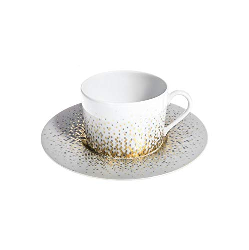 Haviland Souffle d'Or Eclipse Teacup & Saucer #313553012234