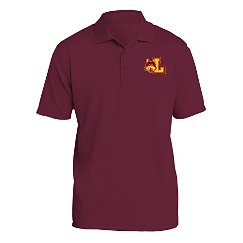 UGP Campus Apparel AP07 - Loyola University Chicago Ramblers Primary Logo LC Polo - X-Large - - Fashion Logo Primary