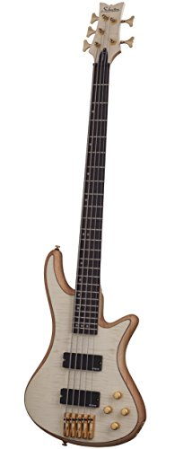 Schecter Stiletto Custom-5 Electric Bass (5 String, Natural Satin) Custom Bass Guitar Bodies