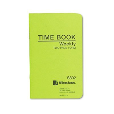 Wilson Jones Foreman's Pocket Size Time Books (S802) by Wilson Jones