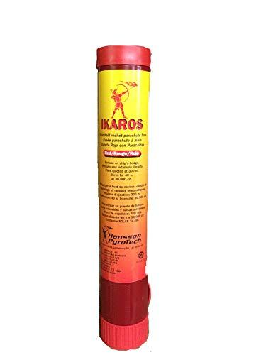 DATREX INC. IKAROS Red Parachute Rockets - IKAROS Flare KIT 6PK - Complete Kit w/ 6 Flares ()