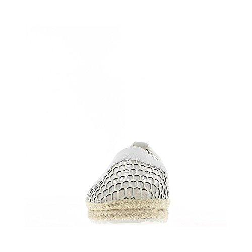 Espadrilles blanches dentelle et fronce