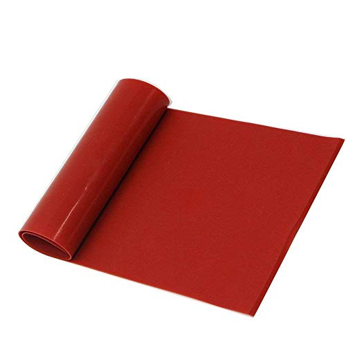 Silicone Rubber Gasket Sheeting, High Temperature No Backing Solid Red 12x12x1/8 inch