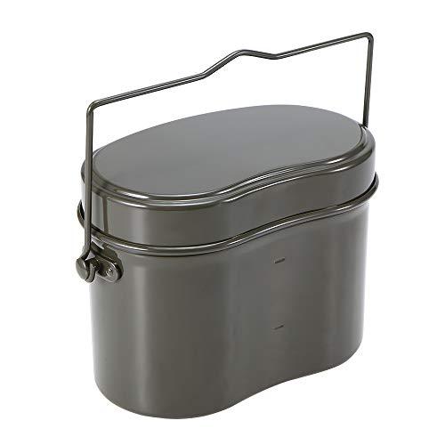 Lixada Outdoor Mess Tin Set Military Lunch Box Hiking Camping Climbing Lunch Case Outdoor Pot Bowl Tableware (Camping Mess Tin)