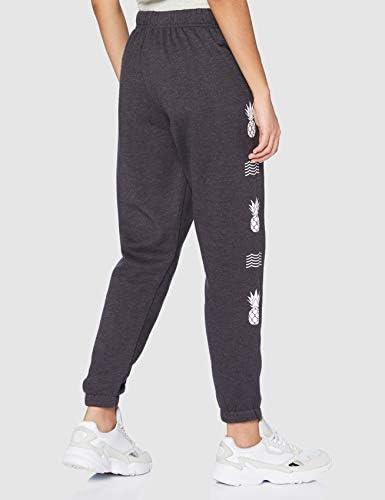 Hurley W Nico Fleece Jogger Pants, Oil Grey HTR, S Womens
