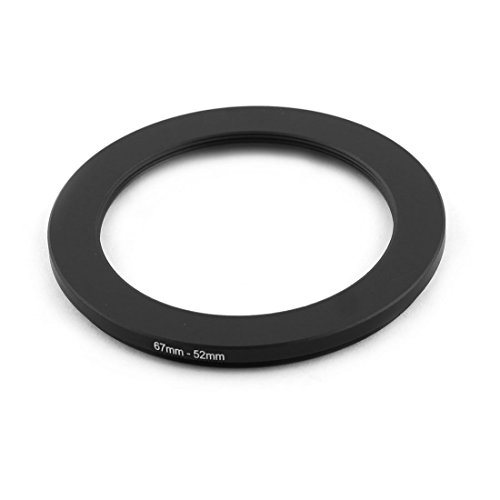 uxcell 67mm-52mm 67mm to 52mm Step Down Ring Filter Adapter for Camera
