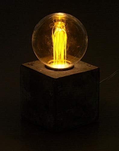 Lampe de table décorative à LED avec socle en béton, alimentation par piles ou USB [Lunartec]