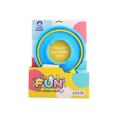 Uncle Bubble Fun Big Bubble Wand with 4 oz Bubble salient: Toys & Games
