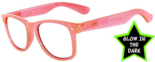 Retro Style Classic Vintage Sunglasses Clear Lens Pink Frame OWL